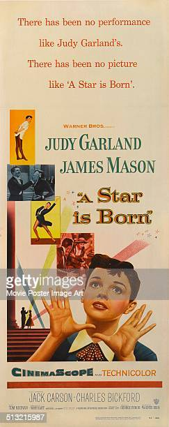A poster for George Cukor's 1954 musical 'A Star Is Born' starring Judy Garland