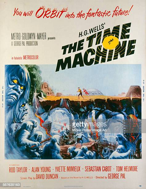 A poster for George Pal's 1960 adventure film 'The Time Machine'