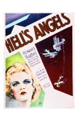 A poster for Howard Hughes' 1930 war film 'Hell's Angels' starring Jean Harlow