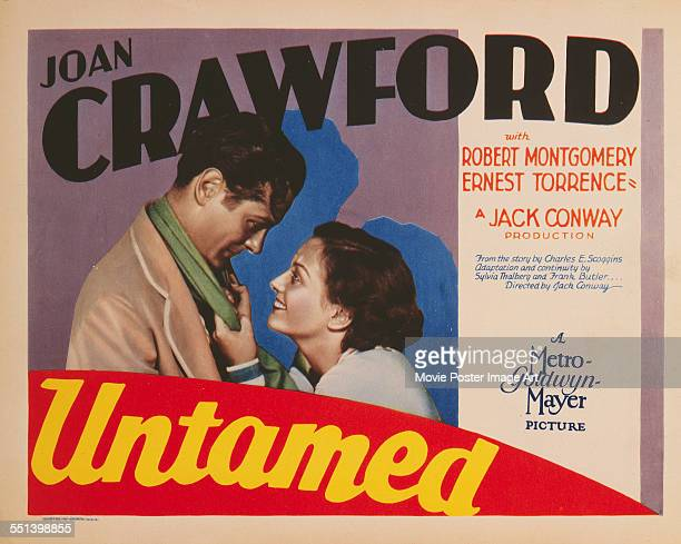 A poster for Jack Conway's 1929 drama 'Untamed' starring Joan Crawford and Robert Montgomery