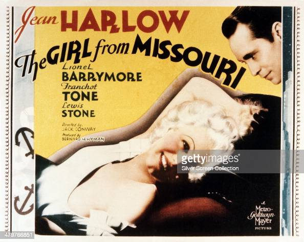A poster for Jack Conway's 1934 romantic comedydrama 'The Girl From Missouri' starring Jean Harlow and Franchot Tone