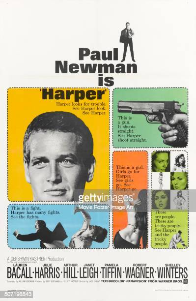 A poster for Jack Smight's 1966 drama 'Harper' starring Paul Newman