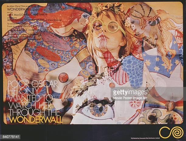 A poster for Joe Massot's 1968 drama 'Wonderwall' starring Jane Birkin