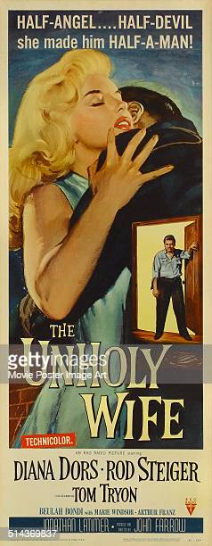 A poster for John Farrow's 1957 'The Unholy Wife' starring Diana Dors and Rod Steiger