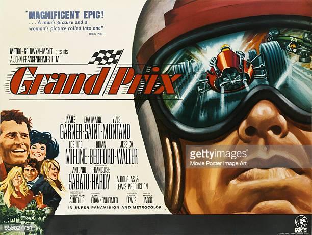 A poster for John Frankenheimer's 1966 drama 'Grand Prix' starring James Garner