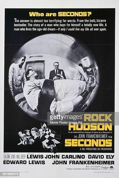 A poster for John Frankenheimer's 1966 drama 'Seconds' starring Rock Hudson
