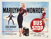 A poster for Joshua Logan's 1956 comedy 'Bus Stop' starring Marilyn Monroe