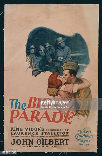 A poster for King Vidor's 1925 drama 'The Big Parade' starring John Gilbert and Renée Adorée