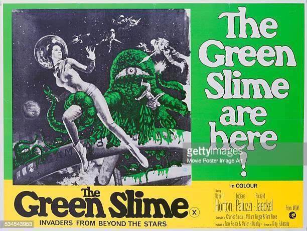 A poster for Kinji Fukasaku's 1968 drama 'The Green Slime' starring Luciana Paluzzi