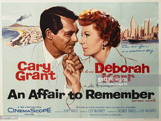 A poster for Leo McCarey's 1957 drama 'An Affair to Remember' starring Cary Grant and Deborah Kerr