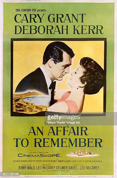 A poster for Leo McCarey's 1957 romantic drama 'An Affair to Remember' starring Cary Grant and Deborah Kerr
