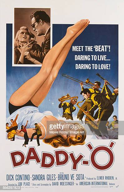 A poster for Lou Place's 1958 crime film 'DaddyO' starring Dick Contino and Sandra Giles