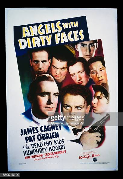 A poster for Michael Curtiz's 1938 crime film 'Angels with Dirty Faces' starring James Cagney Pat O'Brien The Dead End Kids and Humphrey Bogart