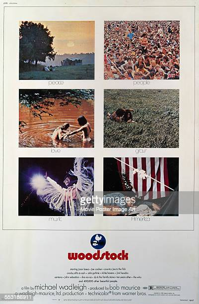 A poster for Michael Wadleigh's 1970 music documentary 'Woodstock'