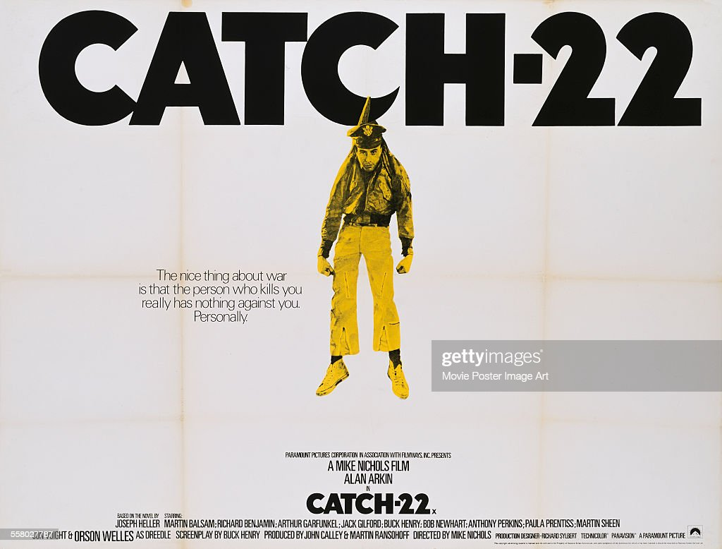 A poster for Mike Nichols' 1970 comedy 'Catch22' starring Alan Arkin