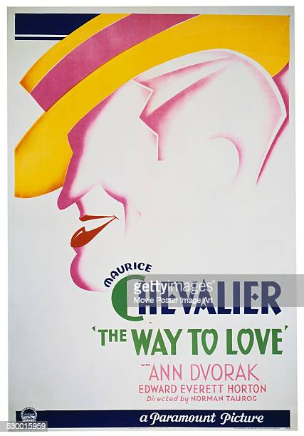 A poster for Norman Taurog's 1933 comedy 'The Way to Love' starring Maurice Chevalier