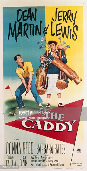 A poster for Norman Taurog's 1953 comedy 'The Caddy' starring Dean Martin and Jerry Lewis
