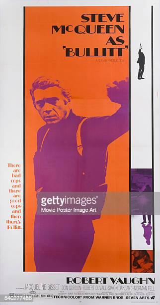 A poster for Peter Yates'1968 crime thriller 'Bullitt' starring Steve McQueen