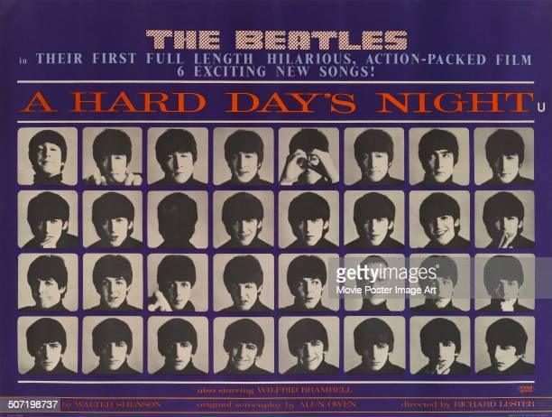 A poster for Richard Lester's 1964 comedy 'A Hard Day's Night' starring The Beatles