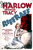 A poster for 'Riffraff' directed by J Walter Ruben and starring Jean Harlow and Spencer Tracy 1936