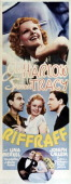 A poster for 'Riffraff' directed by J Walter Ruben and starring Jean Harlow Spencer Tracy and Joseph Calleia 1936
