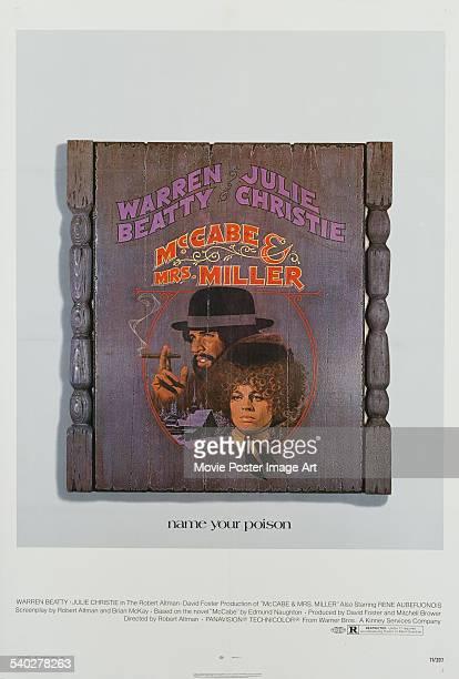 A poster for Robert Altman's 1971 western 'McCabe Mrs Miller' starring Warren Beatty and Julie Christie