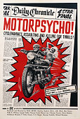 A poster for Russ Meyer's 1965 action film 'Motorpsycho' starring Steve Oliver and Holle K Winters