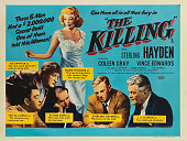 A poster for Stanley Kubrick's 1956 crime film 'The Killing' starring Sterling Hayden Coleen Gray Vince Edwards Ted de Corsia Joe Sawyer and Jay C...