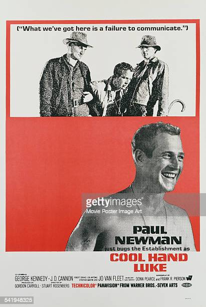 A poster for Stuart Rosenberg's 1967 crime film 'Cool Hand Luke' starring Paul Newman