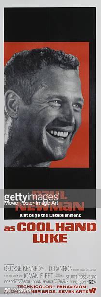 A poster for Stuart Rosenberg's 1967 crime film 'Cool Hand Luke' starring Paul Newman