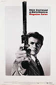 A poster for Ted Post's 1973 action film 'Magnum Force' starring Clint Eastwood