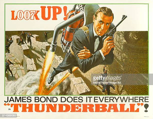A poster for Terence Young's 1965 action film 'Thunderball' starring Sean Connery