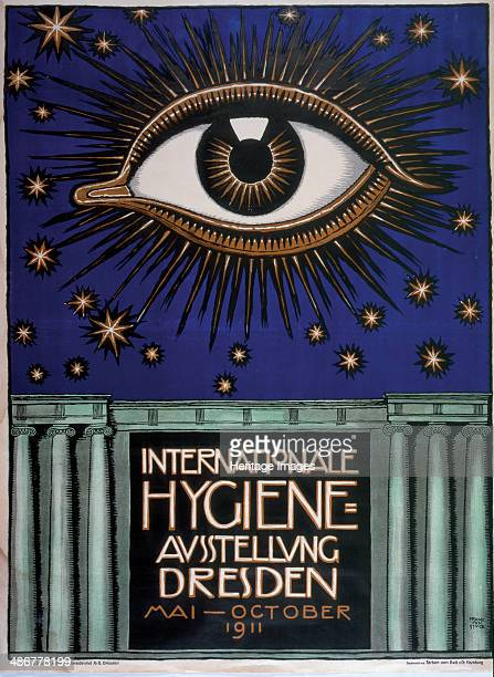 Poster for the 1911 First International Hygiene Exhibition 1911 Artist Stuck Franz Ritter von