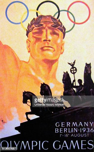 Poster for the 1936 Olympics held in Berlin Germany Berlin won the bid to host the Games over Barcelona Spain and it marked the second and final time...