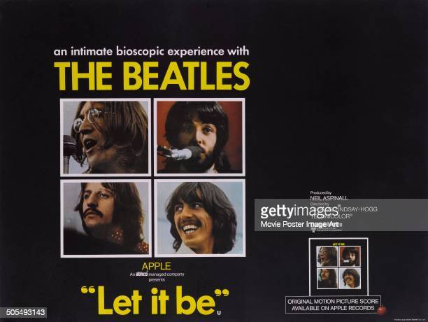 A poster for the Apple Corps movie 'Let It Be' featuring The Beatles 1970