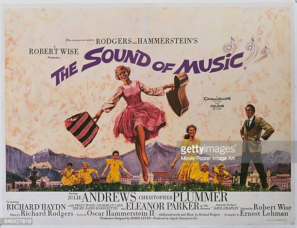 A poster for the British release of Robert Wise's 1965 musical 'The Sound Of Music' starring Julie Andrews and Christopher Plummer