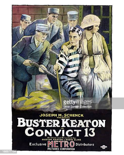 A poster for the Buster Keaton silent comedy short 'Convict 13' directed by Keaton and Edward F Cline 1920