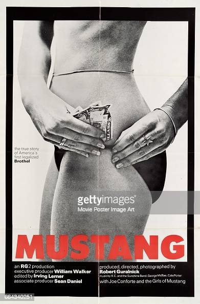 Image contains suggestive contentA poster for the documentary film 'Mustang The House That Joe Built' written and directed by Robert Guralnick 1977...
