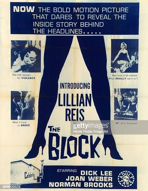 Image contains suggestive contentA poster for the exploitation film 'The Block' starring Lillian Reis and directed by Tony Orlando 1964