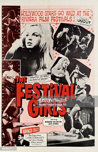 Image contains suggestive contentA poster for the film 'The Festival Girls' featuring actress Barbara Valentin 1961