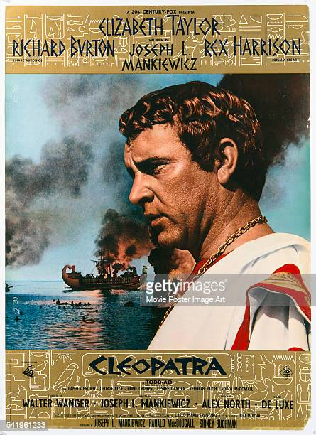 A poster for the Italian release of Joseph L Mankiewicz's 1963 epic 'Cleopatra' featuring Richard Burton