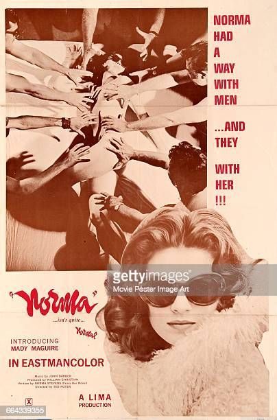 Image contains suggestive contentA poster for the Lima Productions pornographic film 'Norma' starring Mady Maguire 1970