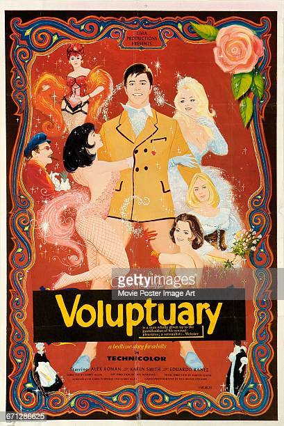 Image contains suggestive content A poster for the Lima Productions pornographic film 'The Erotic Adventures of Pinocchio' aka 'Voluptuary' written...