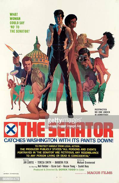 Image contains suggestive contentA poster for the Magus Films pornographic film 'The Senator' starring Jim Curtis and Barbara Fisk and produced and...