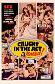 Image contains suggestive contentA poster for the pornographic film 'Caught in the Act' which stresses that the protagonists are in fact 'naked' 1966
