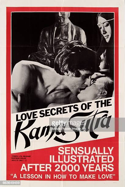 Image contains suggestive contentA poster for the pornographic film 'Love Secrets of the Kama Sutra' 1970