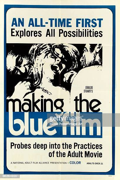 Image contains suggestive contentA poster for the pornographic film 'Making the Blue Film' 1971