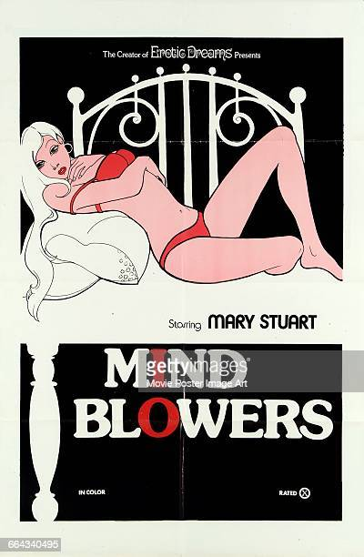 Image contains suggestive contentA poster for the pornographic film 'Mind Blowers' starring Mary Stuart 1975