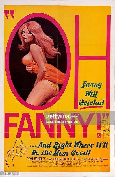 Image contains suggestive contentA poster for the pornographic film 'Oh Fanny' aka 'The Memoirs of Fanny Hill' starring Mindy Wilson a screen version...