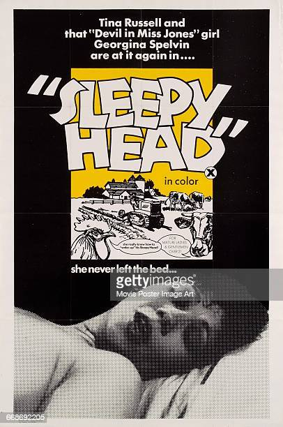 Image contains suggestive contentA poster for the pornographic film 'Sleepy Head' starring Tina Russell and Georgina Spelvin and directed by Joseph W...